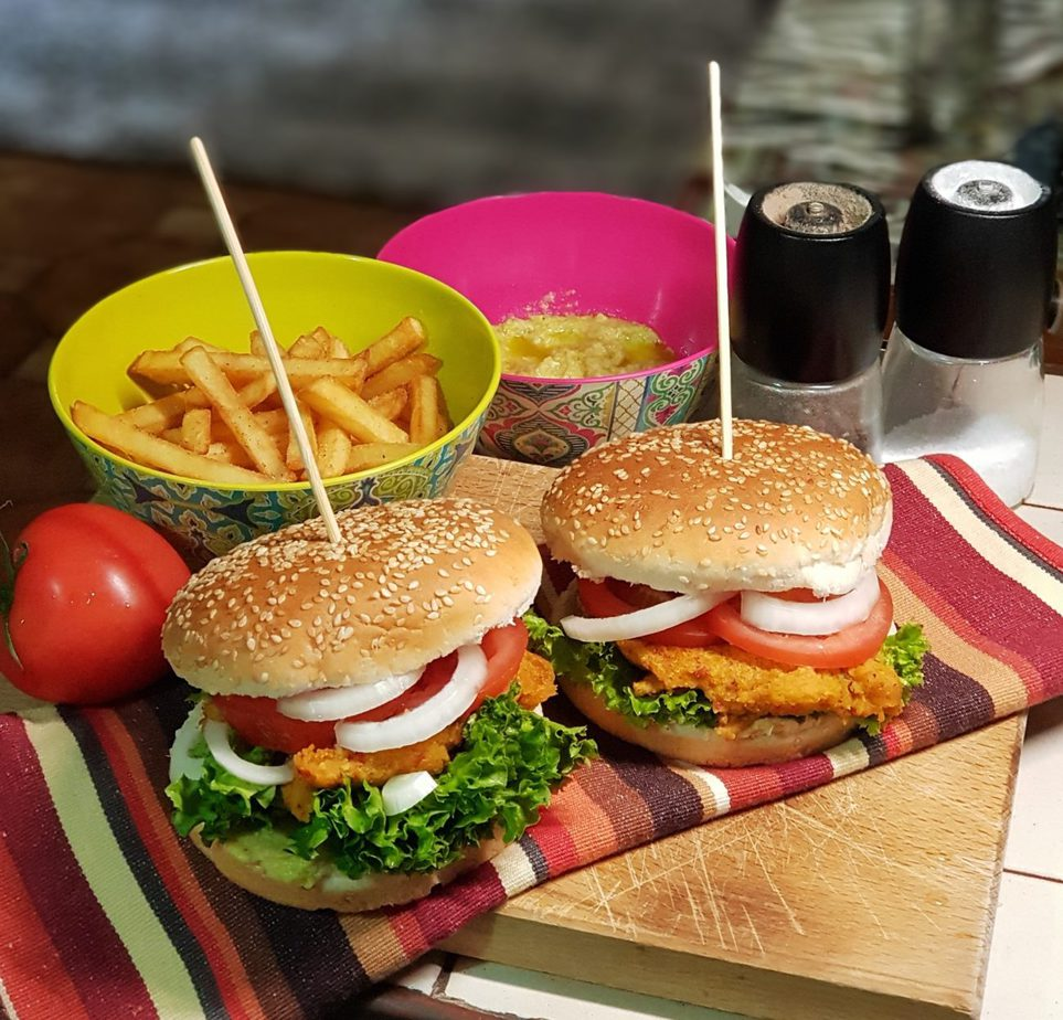 Veggie Burger από κόκκινες φακές
