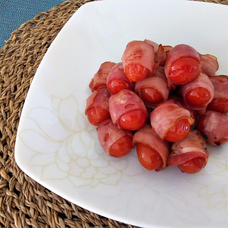Ντοματίνια με μπέϊκον